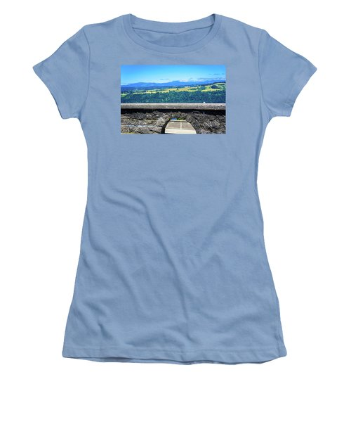 Beautiful Landscape From Vista House Women's T-Shirt (Athletic Fit)
