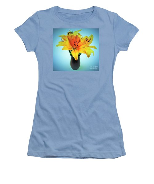 Women's T-Shirt (Junior Cut) featuring the photograph Beautiful Royal Lilies  by Ray Shrewsberry