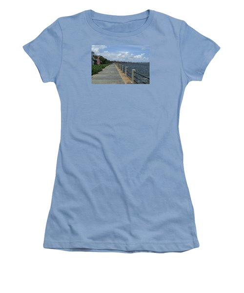 Beautiful Waterfront Walkway Women's T-Shirt (Athletic Fit)