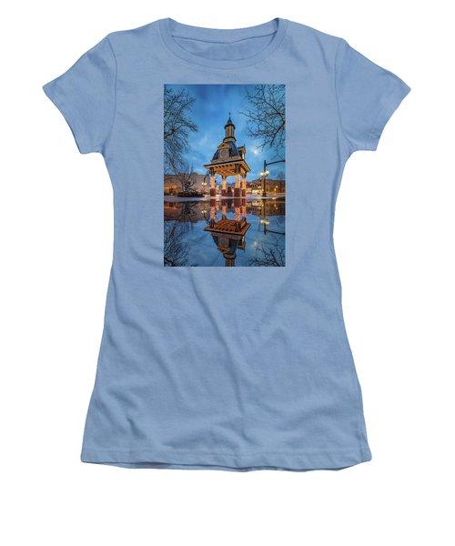Bell Tower  In Beaver  Women's T-Shirt (Junior Cut) by Emmanuel Panagiotakis