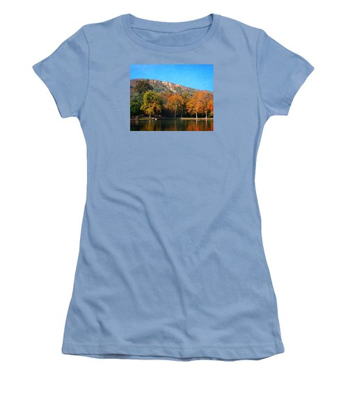 Women's T-Shirt (Junior Cut) featuring the photograph Below Puma Ridge by Timothy Bulone
