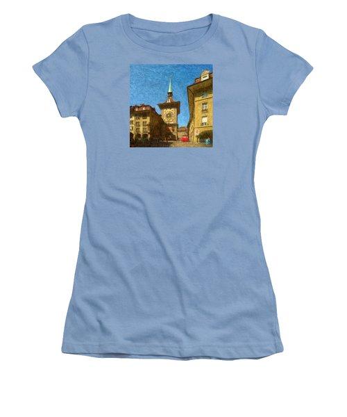 Bern Clock Tower Women's T-Shirt (Junior Cut)