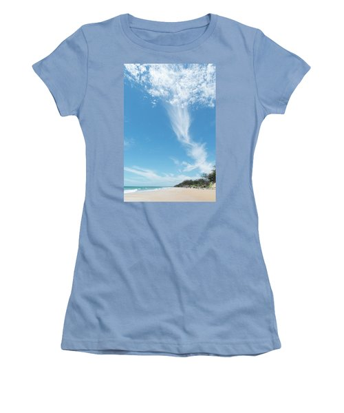 Big Sky Beach Women's T-Shirt (Athletic Fit)