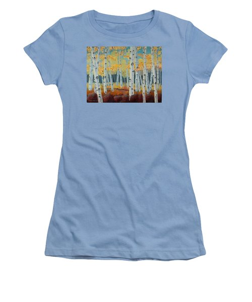 Birchwood Forest Women's T-Shirt (Athletic Fit)