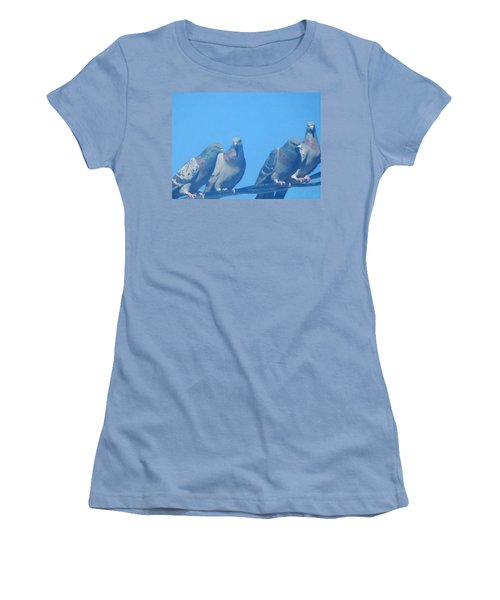 Bird Gossip Women's T-Shirt (Athletic Fit)