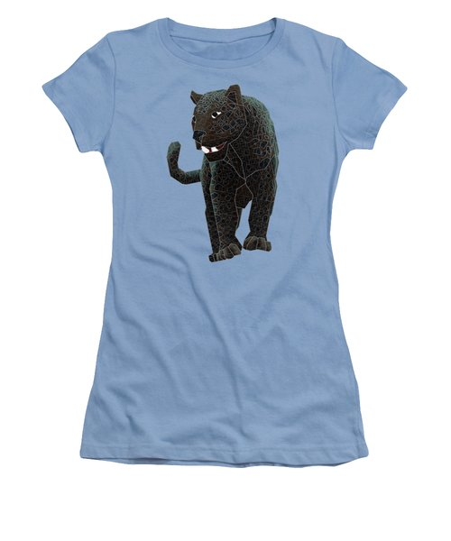 Black Panther Women's T-Shirt (Junior Cut) by Dusty Conley
