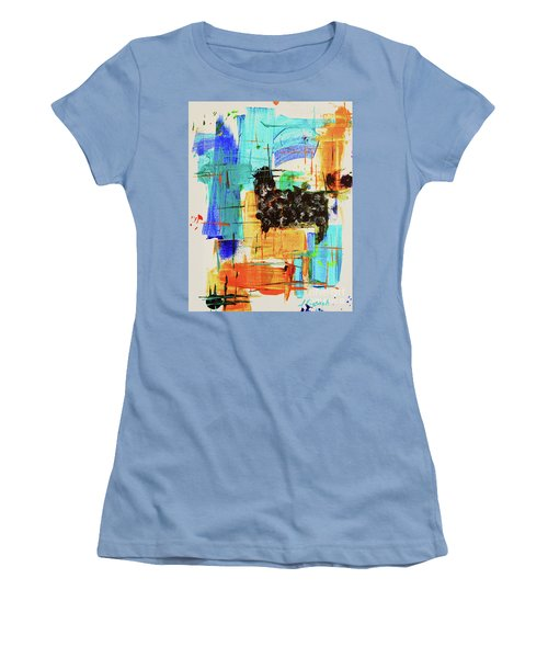 Black Sheep Women's T-Shirt (Junior Cut) by Jeanette French