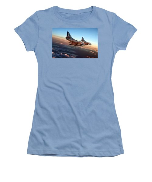 Black Sheep Skyhawks Women's T-Shirt (Athletic Fit)