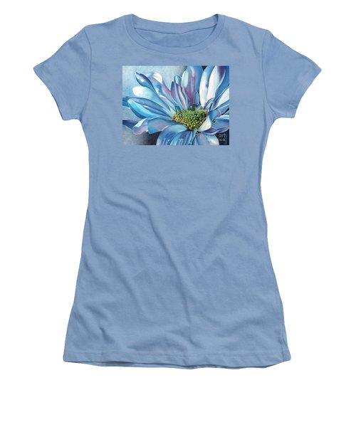 Women's T-Shirt (Junior Cut) featuring the painting Blue by Angela Armano