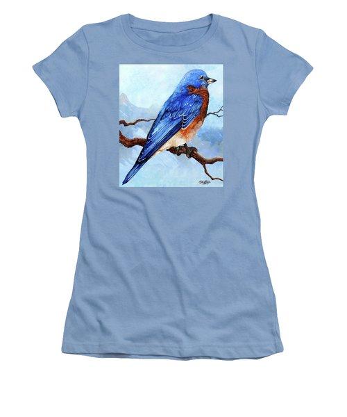 Blue Bird Women's T-Shirt (Athletic Fit)