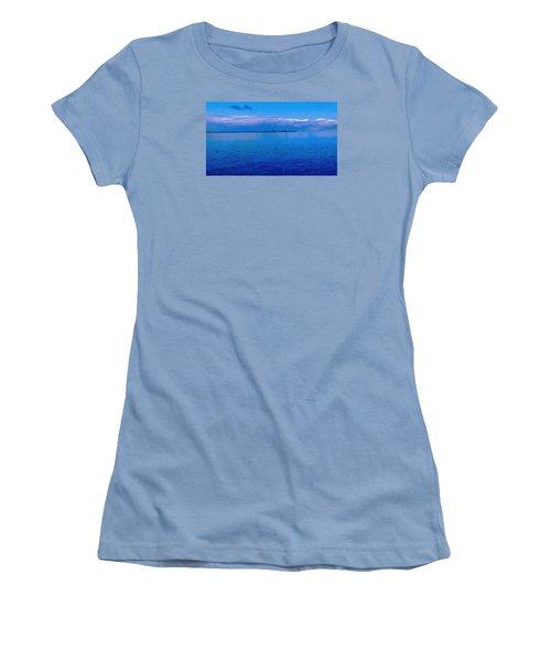 Blue Blue Sea Women's T-Shirt (Junior Cut) by Vicky Tarcau