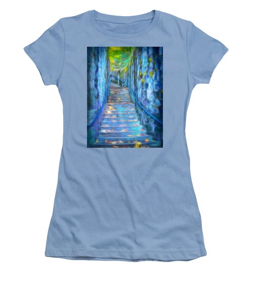 Blue Dream Stairway Women's T-Shirt (Athletic Fit)