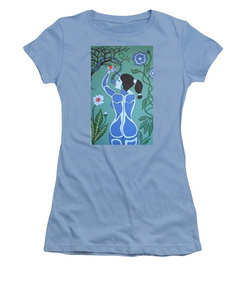 Blue Eve No. 1 Women's T-Shirt (Athletic Fit)
