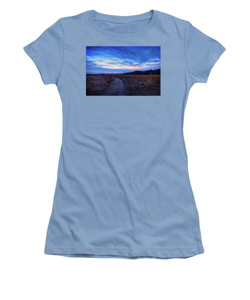 Blue Hour After Sunset At Retzer Nature Center Women's T-Shirt (Junior Cut) by Jennifer Rondinelli Reilly - Fine Art Photography