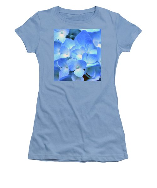 Blue Hydrangea Women's T-Shirt (Athletic Fit)