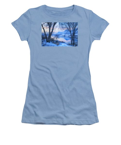 Blue Landscape Women's T-Shirt (Junior Cut) by Theresa Tahara