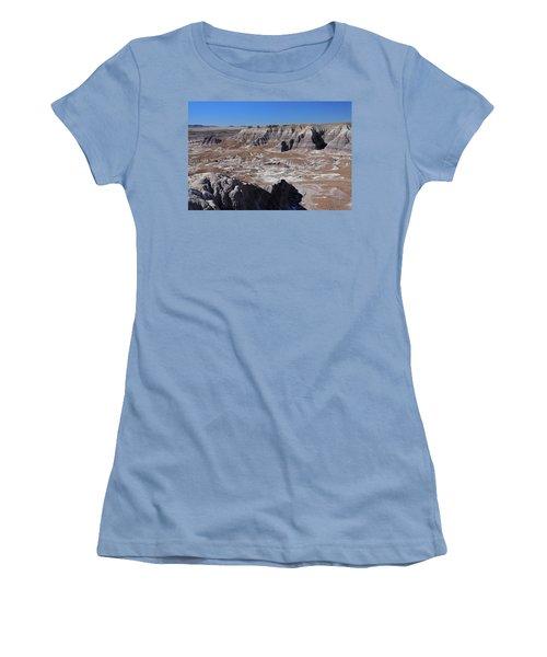 Women's T-Shirt (Junior Cut) featuring the photograph Blue Mesa by Gary Kaylor