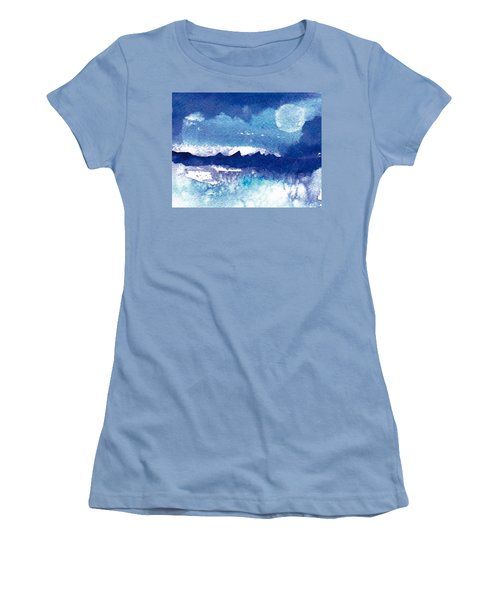 Blue Mohave Moon Women's T-Shirt (Athletic Fit)