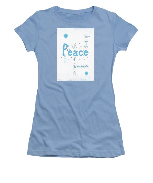 Blue Peace Women's T-Shirt (Athletic Fit)