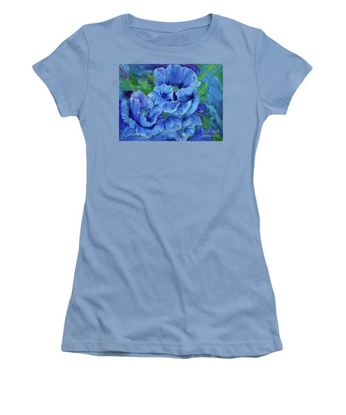 Blue Poppies 11 Women's T-Shirt (Athletic Fit)