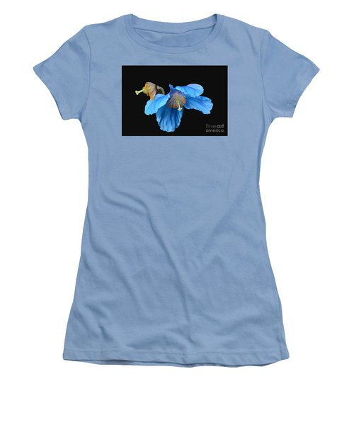 Blue Poppies Women's T-Shirt (Junior Cut) by Cindy Manero