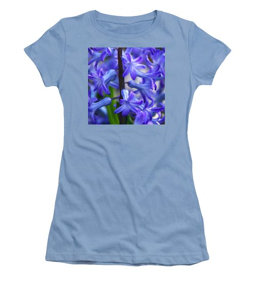 Women's T-Shirt (Junior Cut) featuring the photograph Blue Rhapsody by Byron Varvarigos