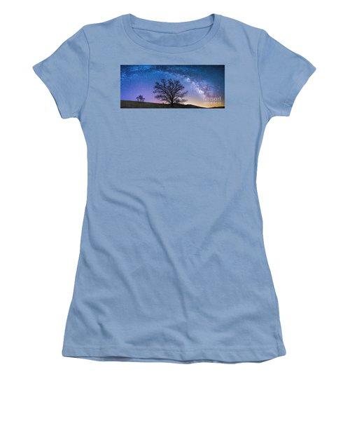 Blue Ridge Milkyway Women's T-Shirt (Junior Cut) by Robert Loe