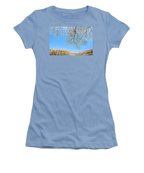 Women's T-Shirt (Junior Cut) featuring the photograph Blue Skies And Dogwood by Tamyra Ayles
