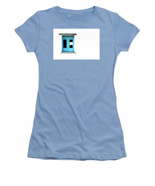 Women's T-Shirt (Junior Cut) featuring the photograph Blue Window by Edgar Laureano