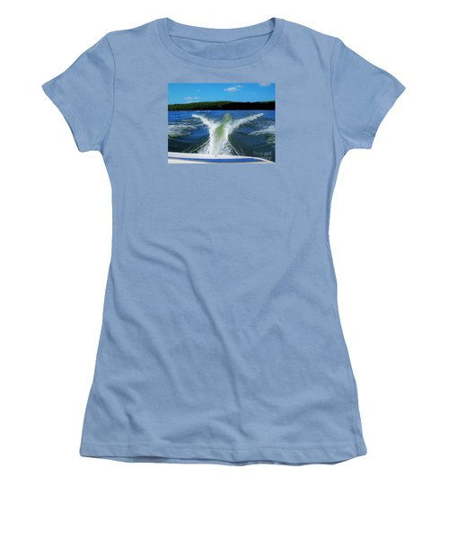 Boat Wake Women's T-Shirt (Athletic Fit)