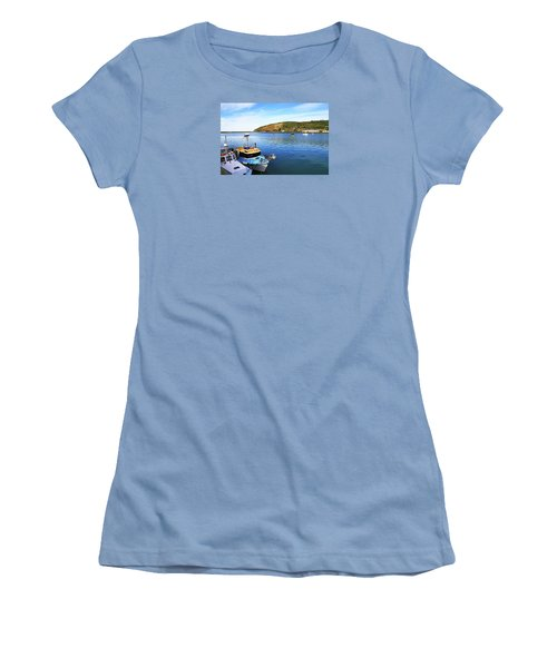 Women's T-Shirt (Athletic Fit) featuring the photograph Boats At Friendly Bay by Nareeta Martin