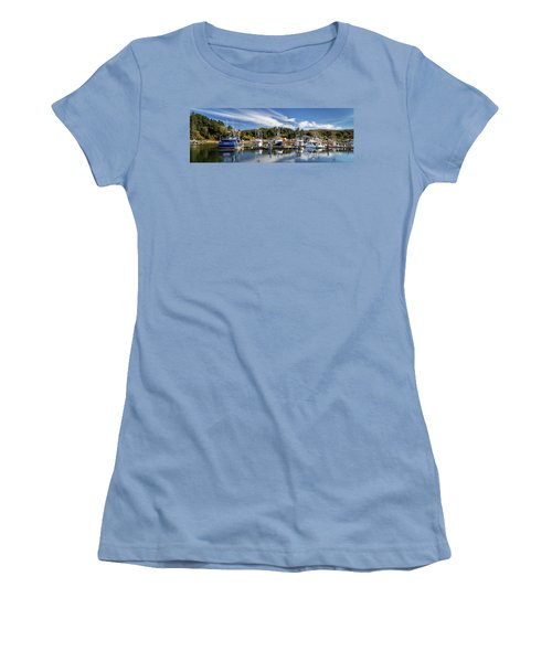 Women's T-Shirt (Athletic Fit) featuring the photograph Boats In Winchester Bay by James Eddy
