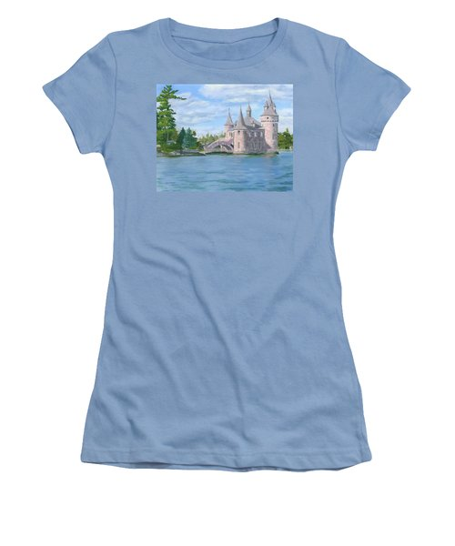 Women's T-Shirt (Athletic Fit) featuring the painting Boldt's Power House by Lynne Reichhart