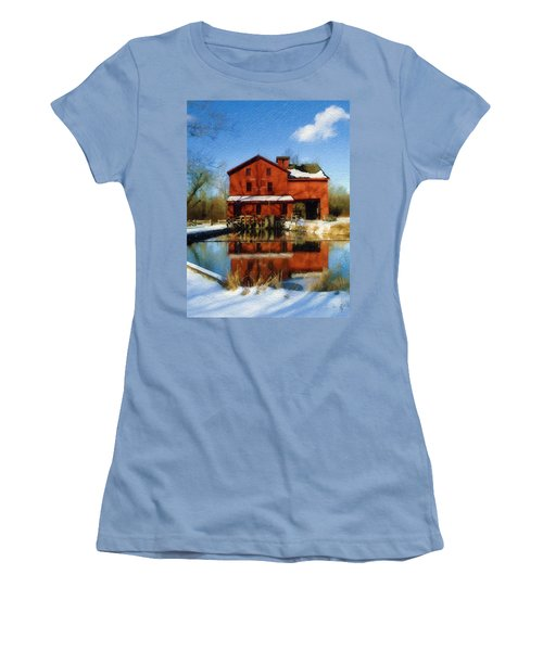Bonneyville In Winter Women's T-Shirt (Junior Cut)