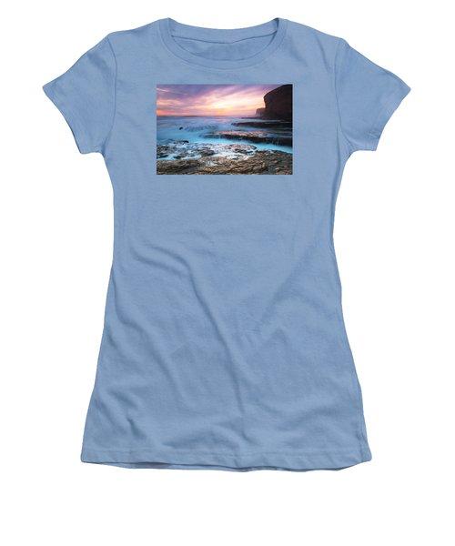 Women's T-Shirt (Junior Cut) featuring the photograph Bonny Doon Beach by Catherine Lau