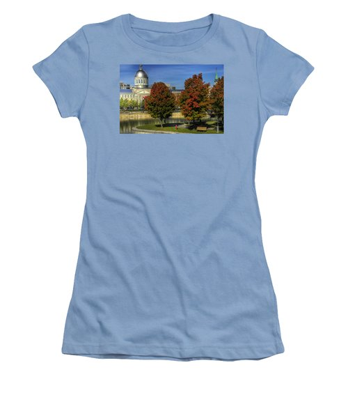 Women's T-Shirt (Junior Cut) featuring the photograph Bonsecours Market by Nicola Nobile