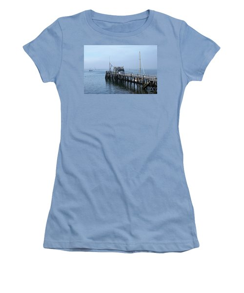 Boothbay Shipyard Dock Women's T-Shirt (Athletic Fit)