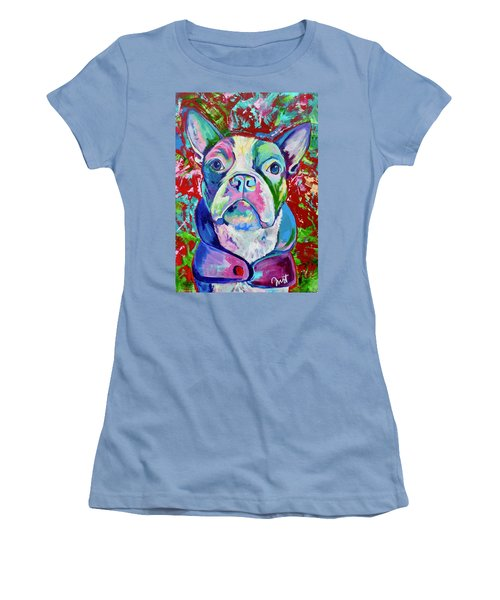 Boston Terrier Women's T-Shirt (Athletic Fit)