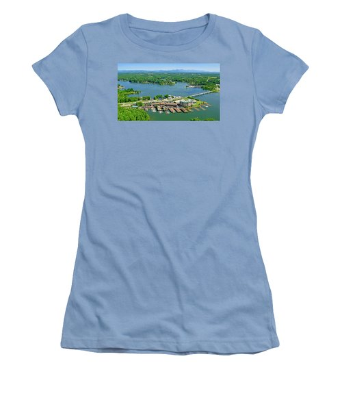 Bridgewater Plaza, Smith Mountain Lake, Virginia Women's T-Shirt (Athletic Fit)