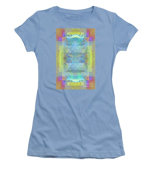 Bright Chalice Ancient Symbol Tapestry Women's T-Shirt (Junior Cut) by Christopher Pringer
