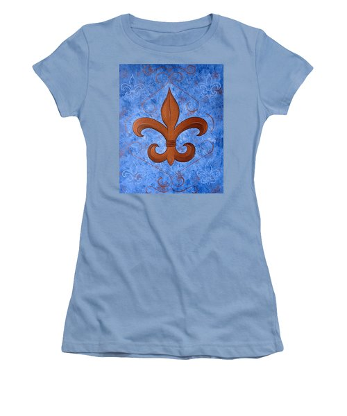 Bronze Fleur De Lis Women's T-Shirt (Athletic Fit)