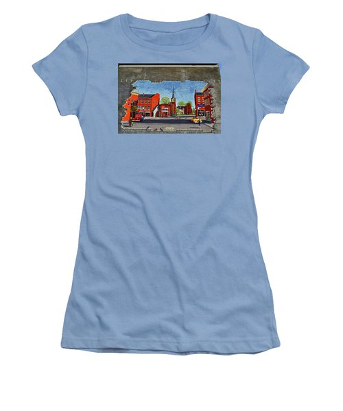 Building Mural - Cuba New York 001 Women's T-Shirt (Junior Cut) by George Bostian