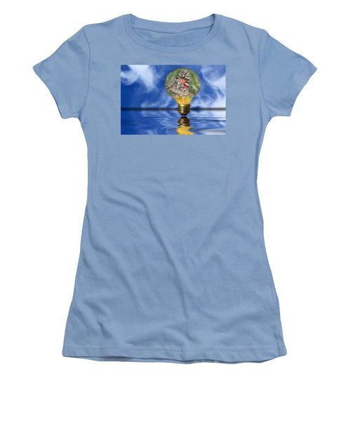 Butterfly In Lightbulb - Landscape Women's T-Shirt (Athletic Fit)