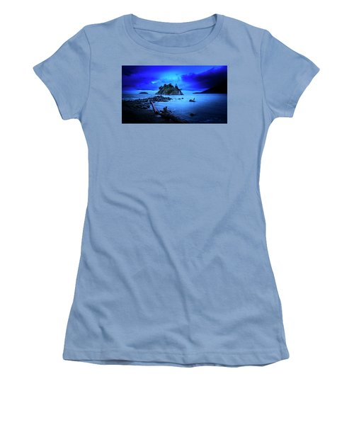 Women's T-Shirt (Athletic Fit) featuring the photograph By The Light Of The Moon by John Poon