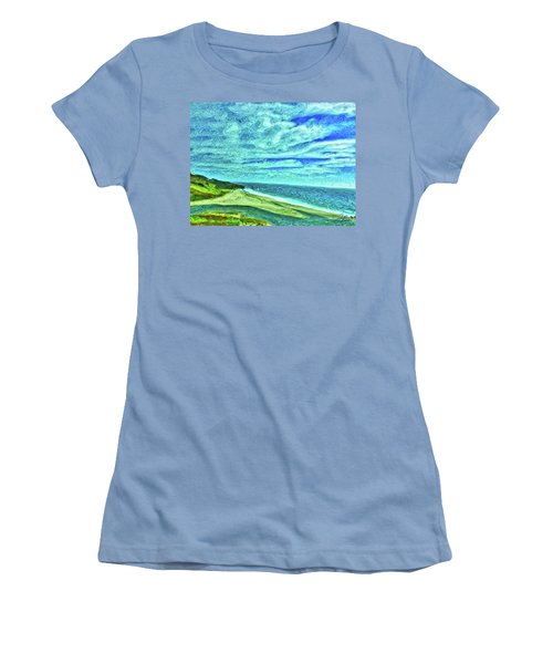 California Coast Women's T-Shirt (Junior Cut) by Joan Reese