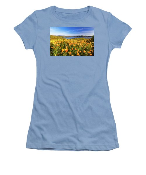 California Dreamin Women's T-Shirt (Junior Cut) by Tassanee Angiolillo
