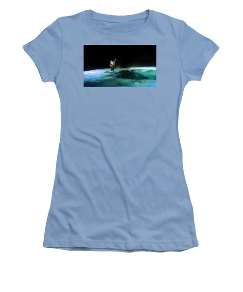 Women's T-Shirt (Athletic Fit) featuring the photograph Calming The Waters by Alex Lapidus