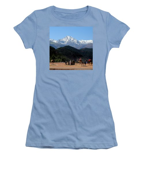 Women's T-Shirt (Junior Cut) featuring the photograph Camels 1 by Andrew Fare