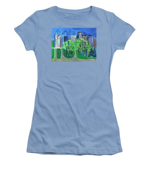 Women's T-Shirt (Junior Cut) featuring the painting Campus by Betty Pieper