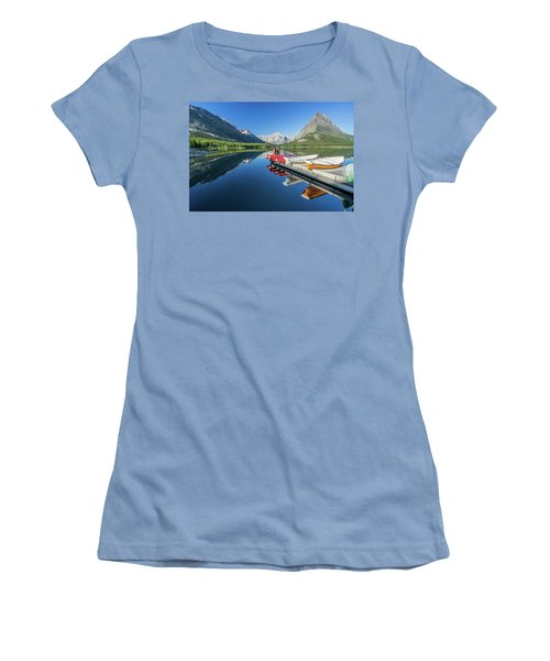 Canoe Reflections Women's T-Shirt (Athletic Fit)
